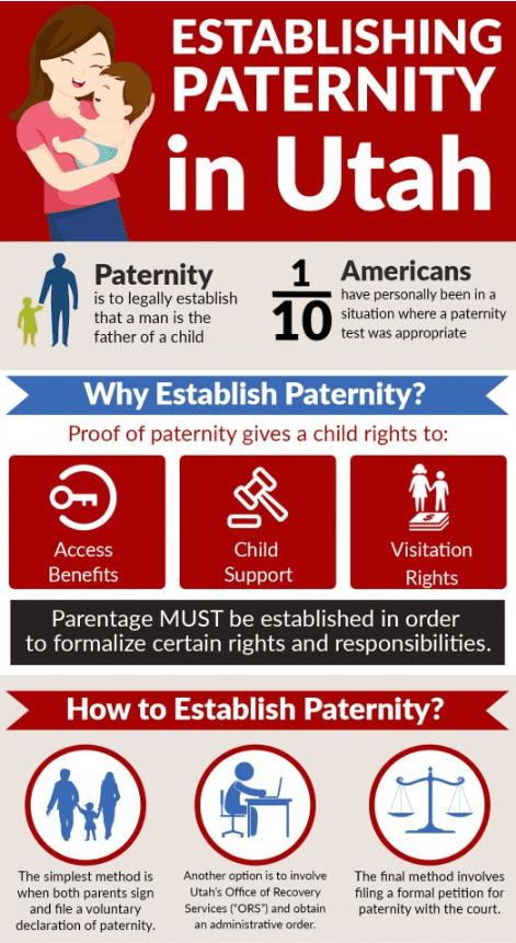 Establishing Paternity Infographic